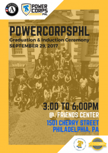 PowerCorpsPHL Graduation and Induction Ceremony